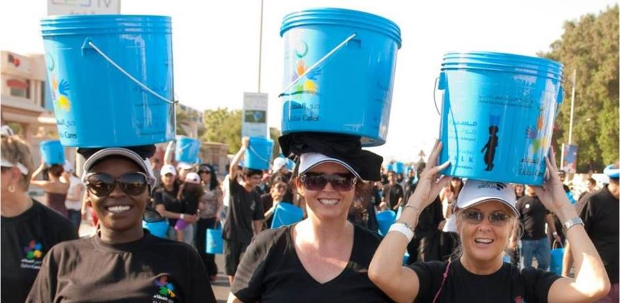 Dubai Cares Water Bucket Walk Event