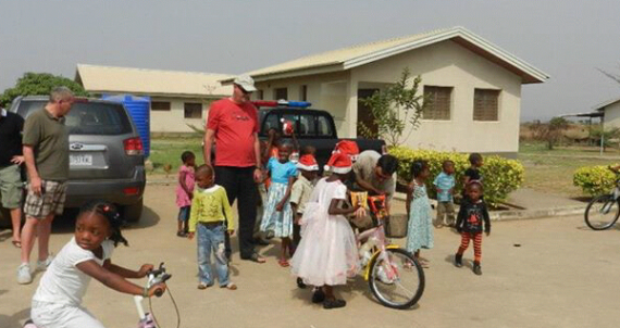 Opening ceremony of houses at the Children's Village