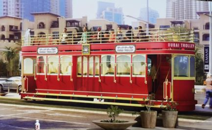 Dubai's first tramway arrives