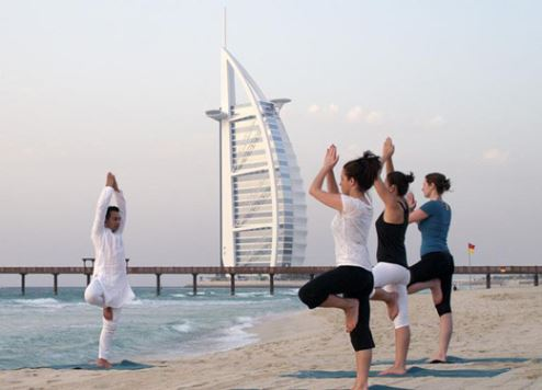 Yoga sessions organised by Jumeirah Group.
