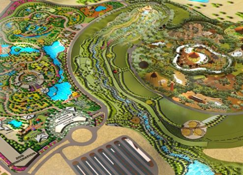 An artist's overview of Dubai Safari Park