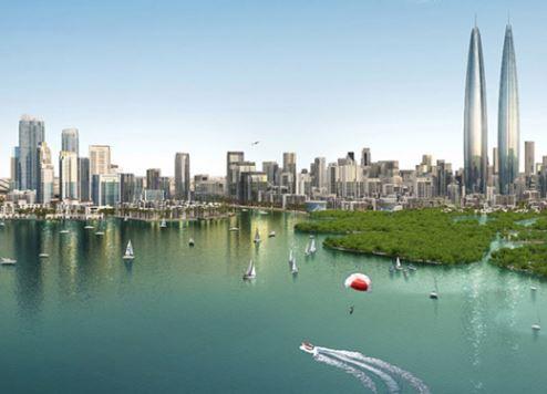 An artist's impression of Dubai Creek Harbour.