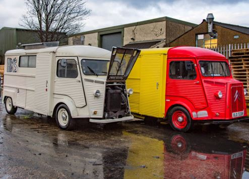 The food trucks wait to leave London