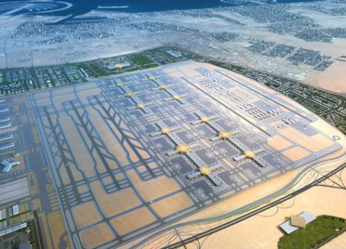 An artist's impression of the completed Al Maktoum International Airport – Dubai World Central (DWC)