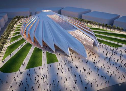 An artist's impression of the UAE pavilion.