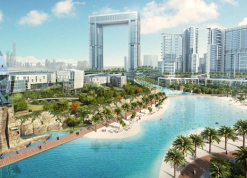 An artist's impression of Dubai Canal.