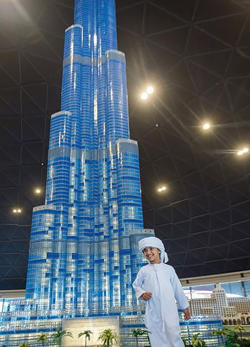 LEGO model of Dubai's Burj Khalifa is a record breaker