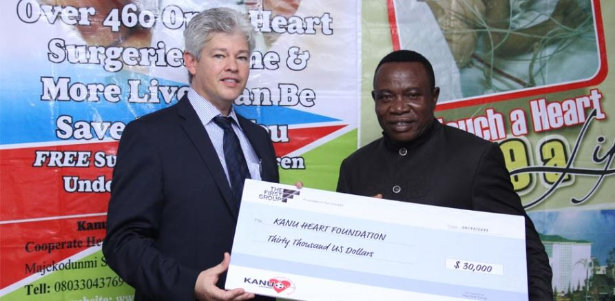 The First Group heads to Africa to donate US$ 30,000 to Kanu Heart Foundation