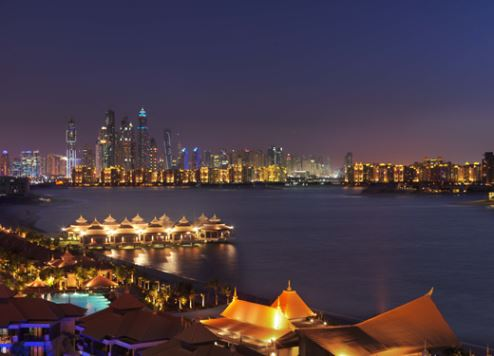 View of Dubai Marina from Palm Jumeirah