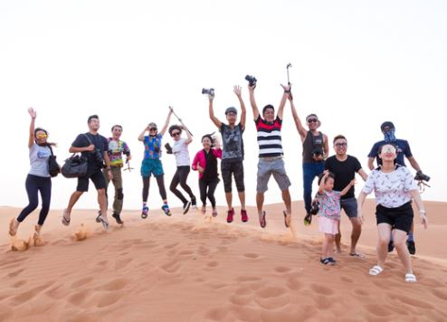 Chinese tourists in Dubai