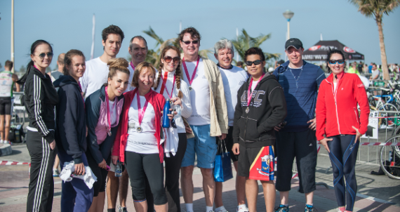 The First Group triathaletes raise money for the Kanu Heart Foundation