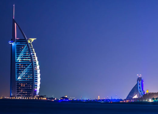 Burj Al Arab and Jumeirah Beach Hotel